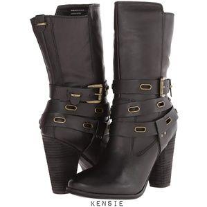 Kensie Hudson Mid-Shaft Leather Strap Boots 😍